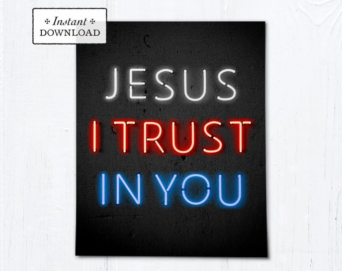 "Divine Mercy Jesus I Trust in You Art Print - Instant Download - DIY Downloadable PDF 8""x10"""