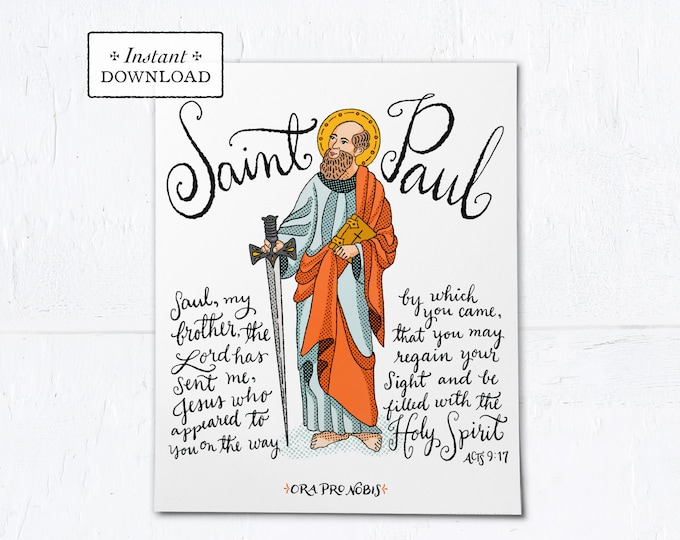 "The Conversion of St. Paul Frameable Art Print - Instant Download - DIY Downloadable PDF 8""x10"""