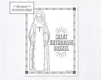 Coloring Pages of St. Pedro and St. Kateri! | Saint coloring ... | 270x340