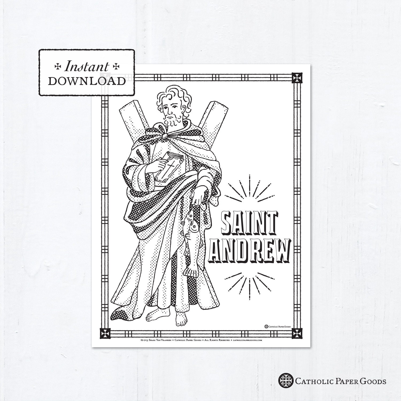 Catholic Coloring Page - Saint Andrew - Catholic Saints ...