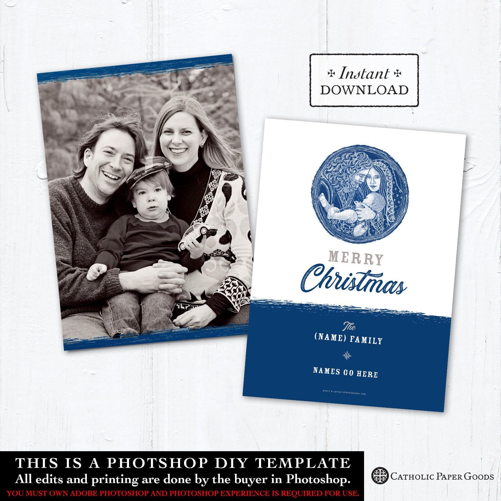 catholic christmas card  digital photoshop christmas