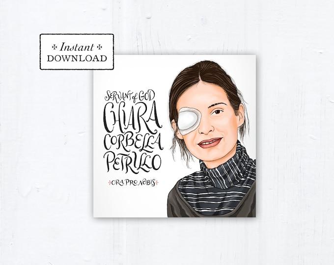 """Servant of God Chiara Corbella Petrillo Square Prayer Card - Square - Instant Download - DIY Downloadable PDF 5.25""""x5.25"""" Prayer Card"""