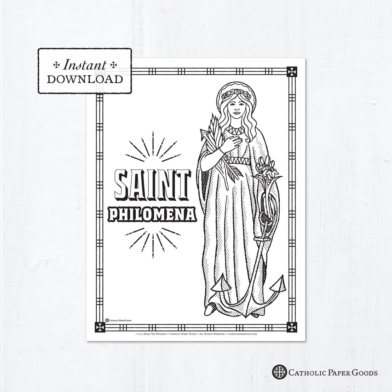 Catholic Coloring Page - Saint Philomena - Catholic Saints ...