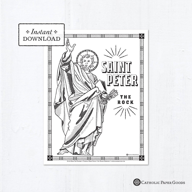 Catholic Coloring Page - Saint Peter - Catholic Saints ...