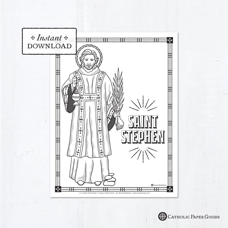 Catholic Coloring Page - Saint Stephen - Catholic Saints ...