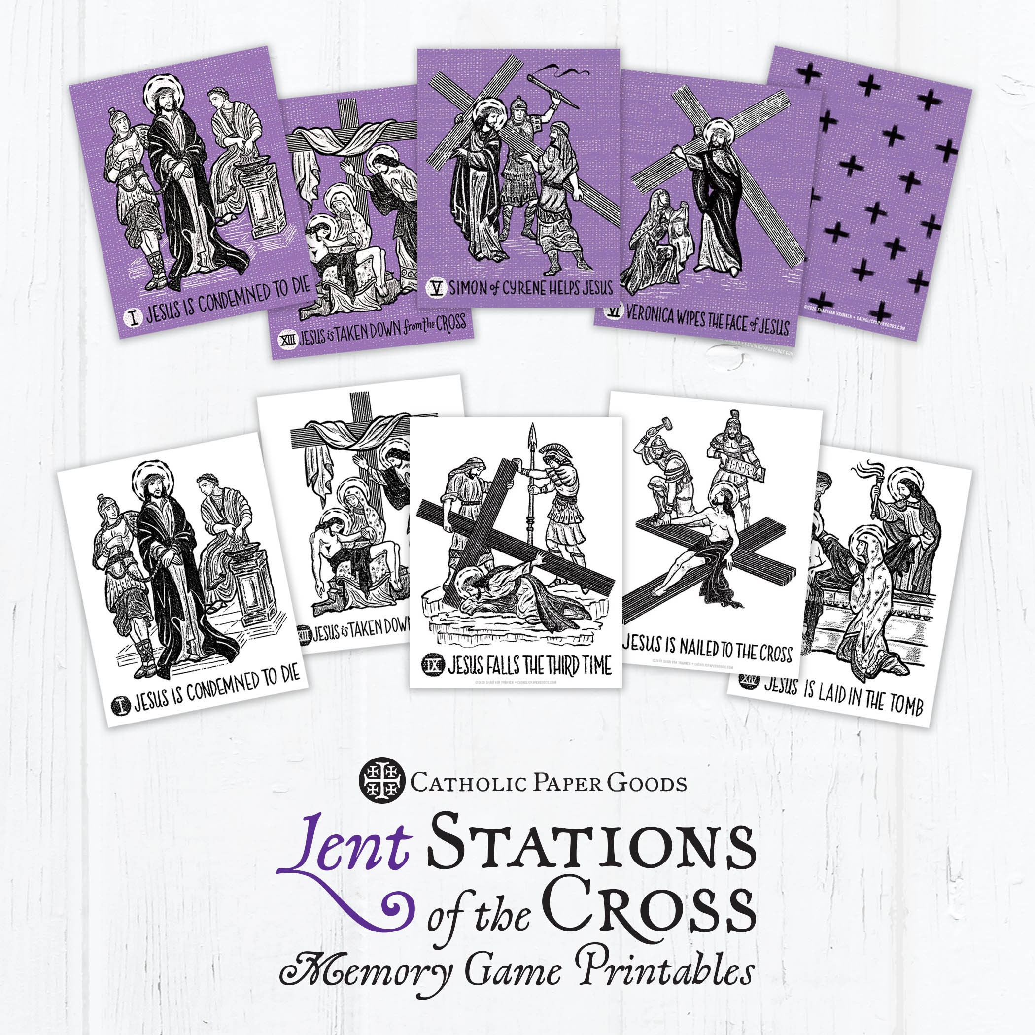 Stations Of The Cross Memory Game For Lent- Lent Activity