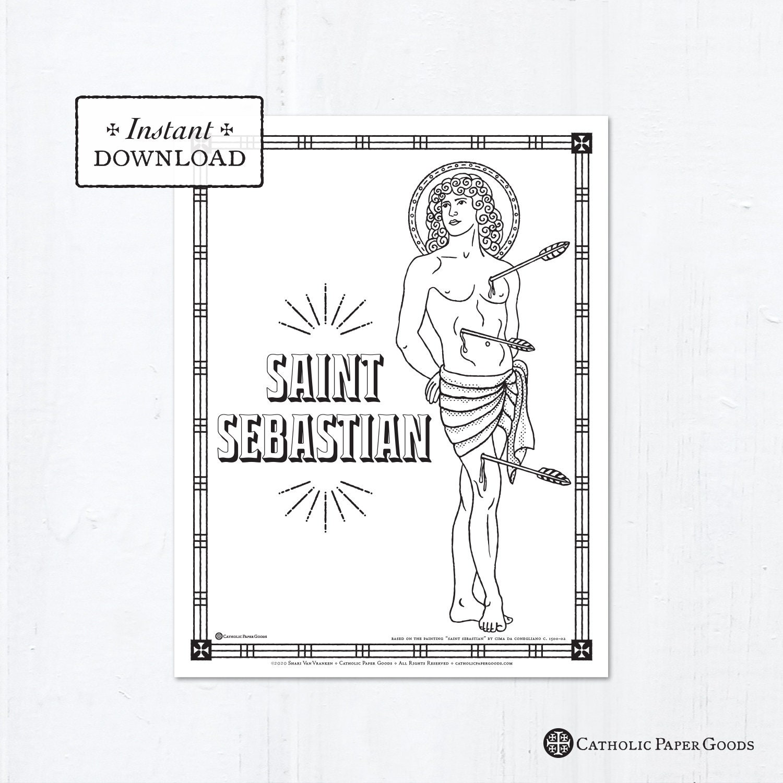 Catholic Coloring Page - Saint Sebastian - Catholic Saints ...