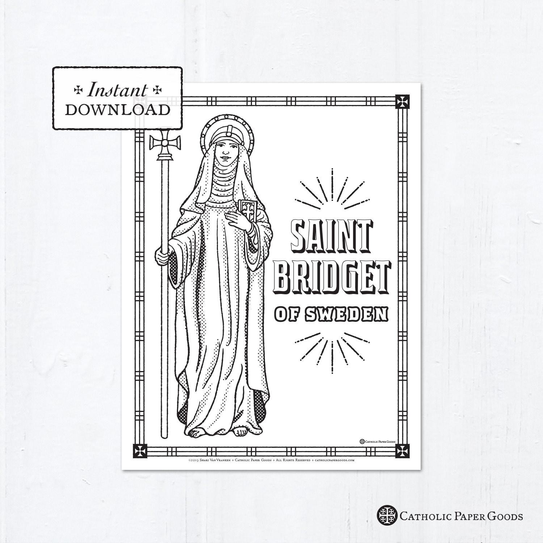 Catholic Coloring Page - Saint Bridget of Sweden - Catholic ...