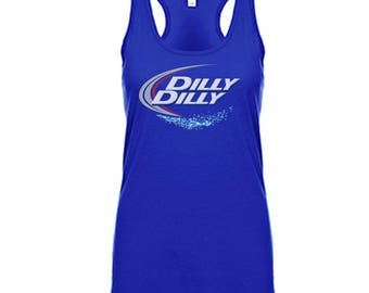 Bud light commercial etsy dilly dilly womens racerback tank funny bud light dilly dilly commercial ladies tank aloadofball Choice Image