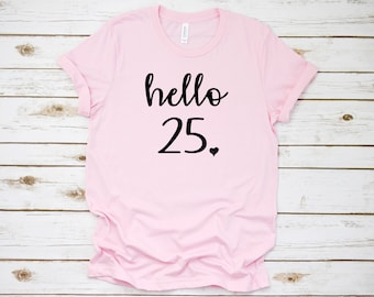 birthday number 25 shirts
