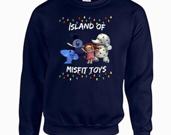 more colors tacky christmas sweatshirt island of misfit - Misfits Christmas Sweater