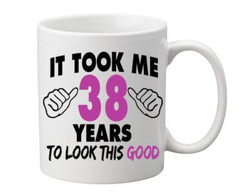 38 Years Old Birthday Mug Happy Birthday Gift Birthday Coffee Mug Coffee Cup Born in 1979 Personalized Mug ALL AGES AVAILABLE