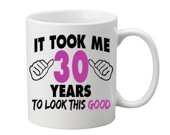 30 Years Old Birthday Mug Happy Birthday Gift Birthday Coffee Mug Coffee Cup Born in 1987 Personalized Mug ALL AGES AVAILABLE