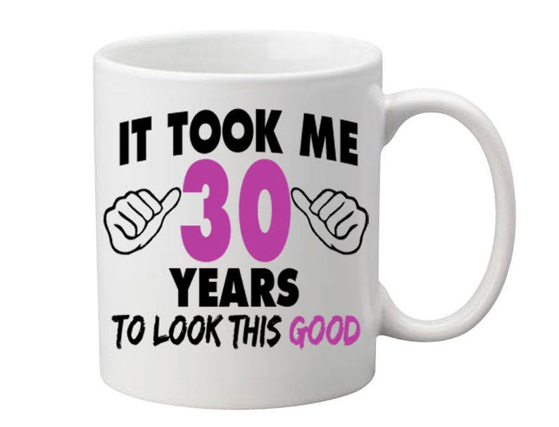 30 Years Old Birthday Mug Happy Gift Coffee Cup Born In 1987 Personalized ALL AGES AVAILABLE