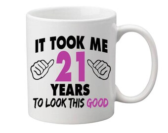21 Years Old Birthday Mug Happy Birthday Gift Birthday Coffee Mug Coffee Cup Born in 1996 Personalized Mug ALL AGES AVAILABLE