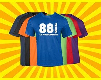 Birthday Shirt 88 Years of Awesomeness Birthday T Shirt Birthday Gift Born in 1929 Happy Birthday Tee