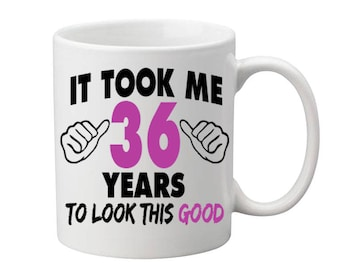 36 Years Old Birthday Mug Happy Birthday Gift Birthday Coffee Mug Coffee Cup Born in 1981 Personalized Mug ALL AGES AVAILABLE