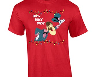 Tacky Christmas Shirt Professor Hinkle Busy Busy Busy Holiday Christmas T Shirt