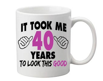 40 Years Old Birthday Mug Happy Birthday Gift Birthday Coffee Mug Coffee Cup Born in 1977 Personalized Mug ALL AGES AVAILABLE