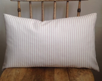 Peony and Sage Eva Stripe Cushion