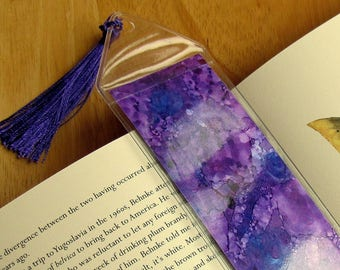 Hand Painted Bookmark, Artsy Bookmark, Book Accessories, Original Painting, Alcohol Ink Art, Book Mark, Handmade Bookmark, Abstract Bookmark