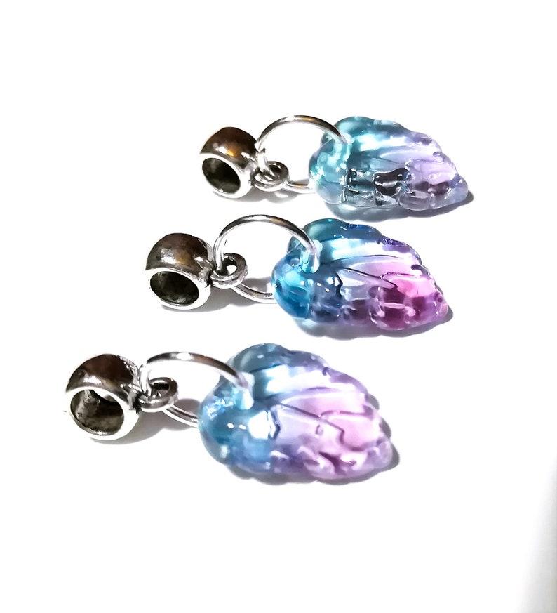 Braid Beads Sisterlocks Boho Hair Loc Jewelry Dread Jewelry Hair Charms 4.5 mm Hair Beads Aqua /& Pink Ombre Dread Bead Set 3 Pc