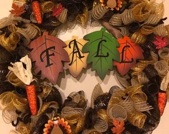 "Thanksgiving Fall Wreath 18"""