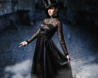 Hell Dress - Gothic - Black lace