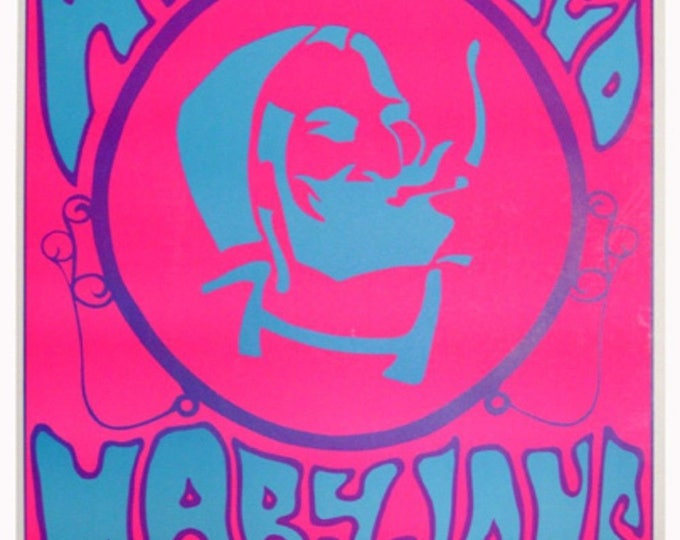 "VINTAGE BLACKLIGHT POSTER ZIG-ZAG NEW 1969 /"" who rolled mary jane ?/""new"