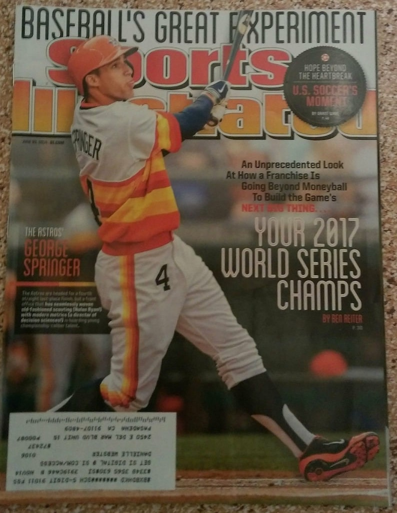 cbfbee90252 2014 Original Sports Illustrated Magazine w Houston Astros