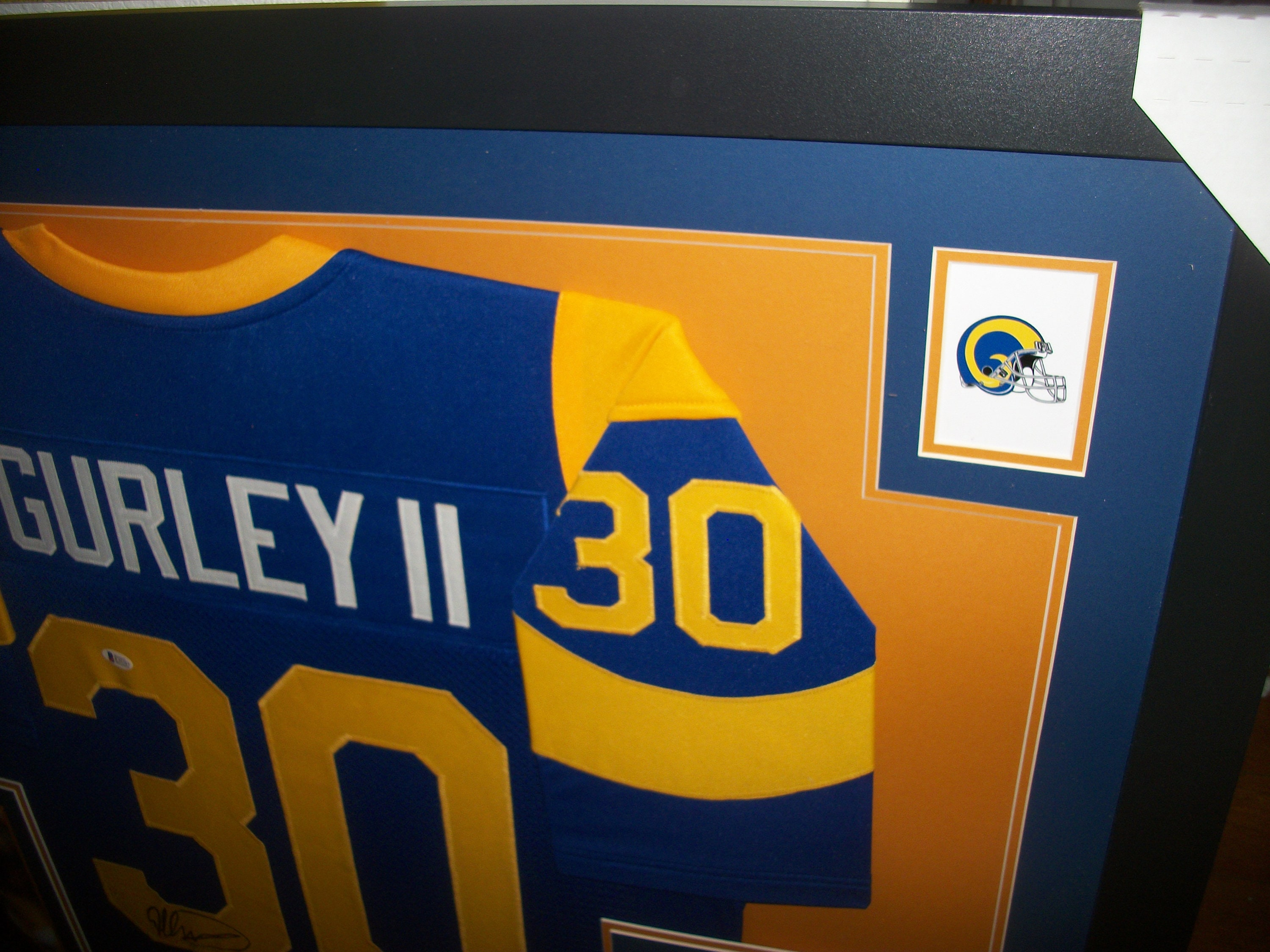 the latest 98981 6e046 Todd Gurley Signed Autographed LA Los Angeles Rams 35x43 ...