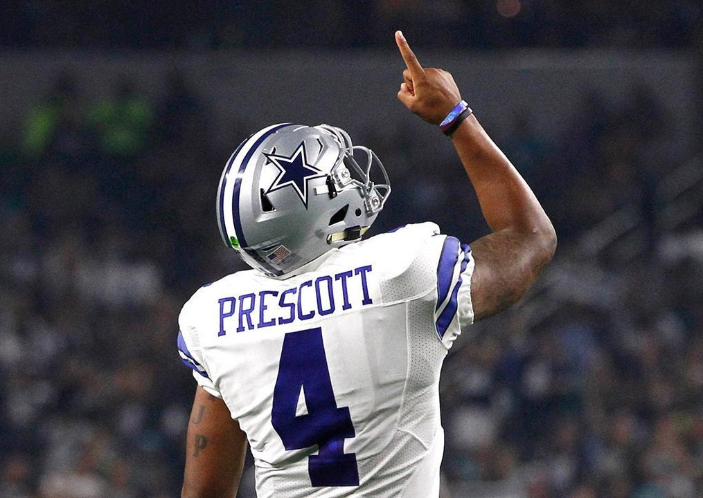 Dak Prescott Signed Dallas Cowboys Full Size Riddell Speed