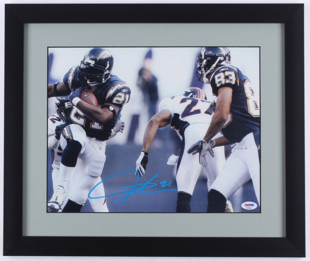 f74be1ac7b9 LaDainian Tomlinson Signed San Diegeo Chargers 16x   Etsy