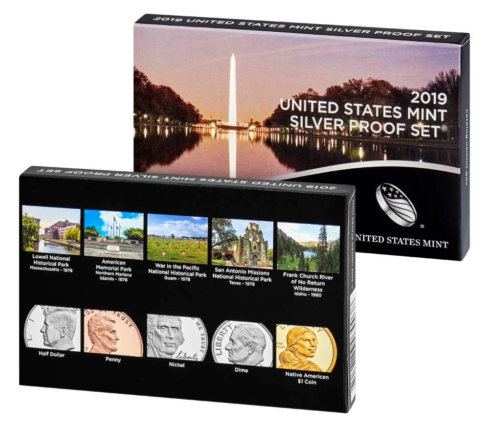 2019 U S  Silver Proof (11 Coin) Set ~ OGP and COA! **99 9