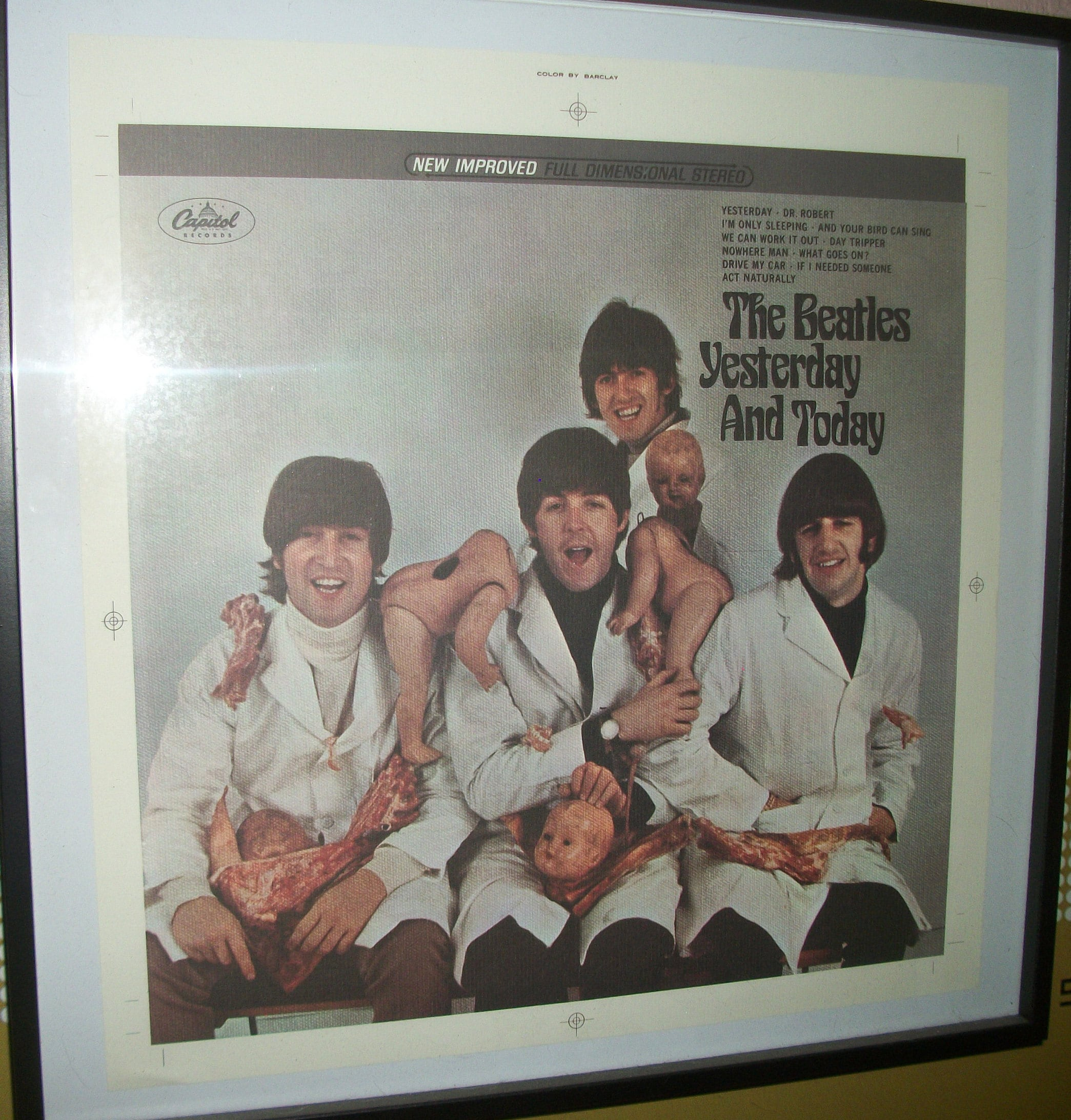 Butcher Cover Letter: The Beatles Yesterday & Today