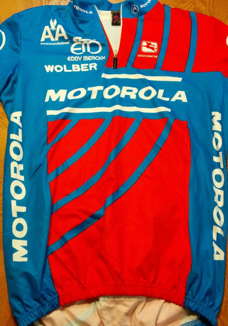 Lance Armstrong 1992 Vintage Tour de France Giordana Motorola Eddy Merckx  Jersey ~ Made in Italy! COA! 0d78fb10b