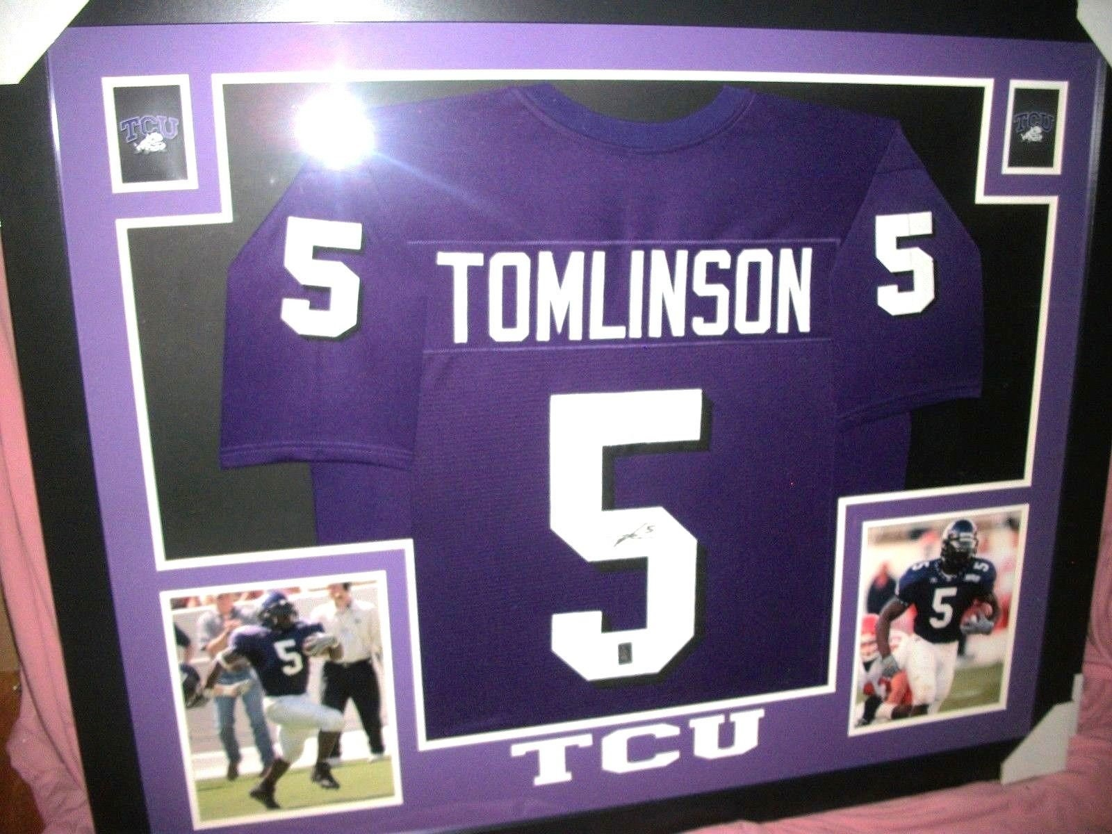 6b78b2c4f LaDainian Tomlinson Signed TCU Texas Christian University 35x43 Custom  Framed Jersey Football Hall of Fame (JSA COA) Brand New!