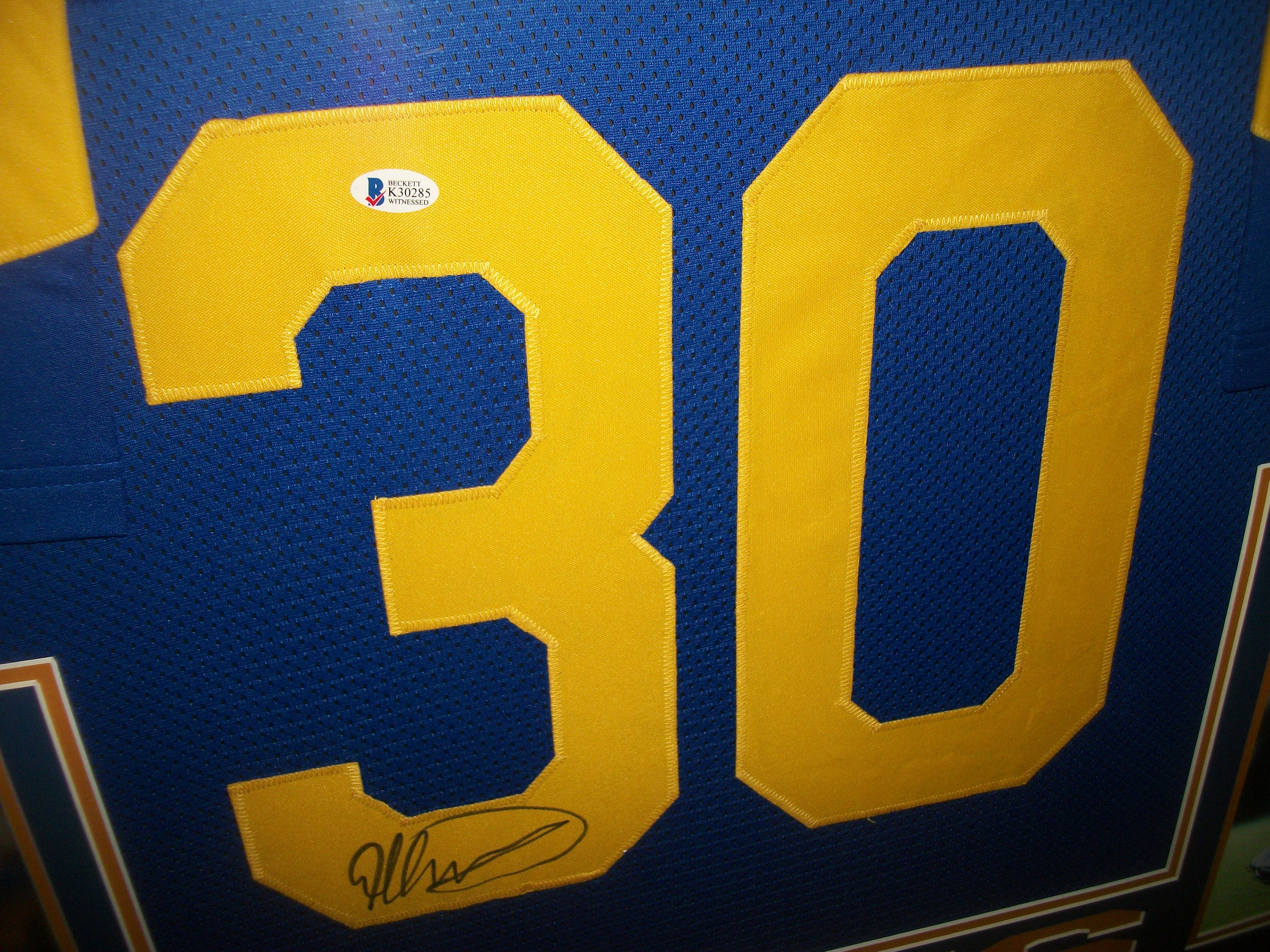 the latest 38db8 0b9d6 Todd Gurley Signed Autographed LA Los Angeles Rams 35x43 ...
