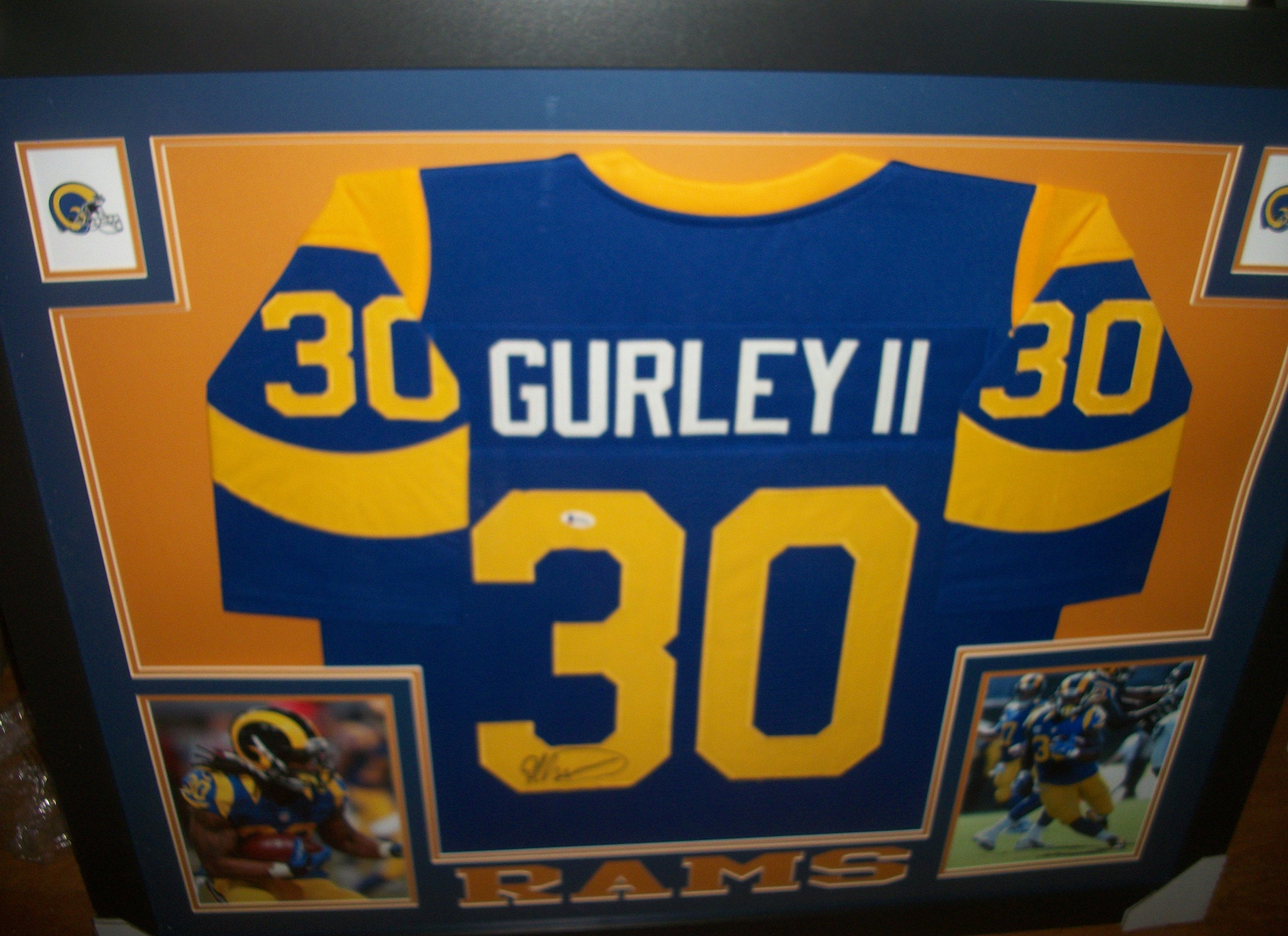 Nice Todd Gurley Signed Autographed LA Los Angeles Rams 35x43 Custom  for cheap
