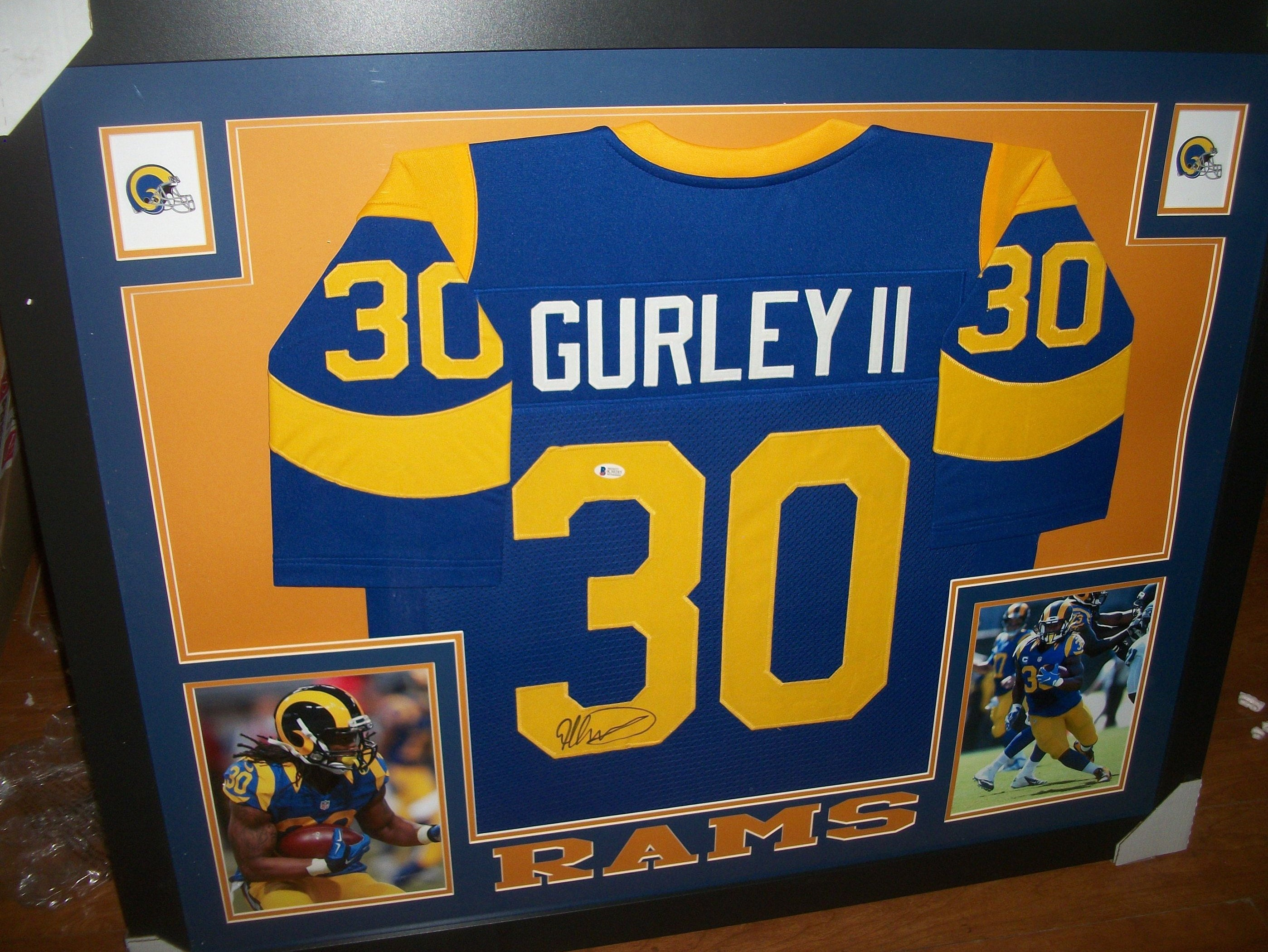 the latest ace34 c3326 Todd Gurley Signed Autographed LA Los Angeles Rams 35x43 ...