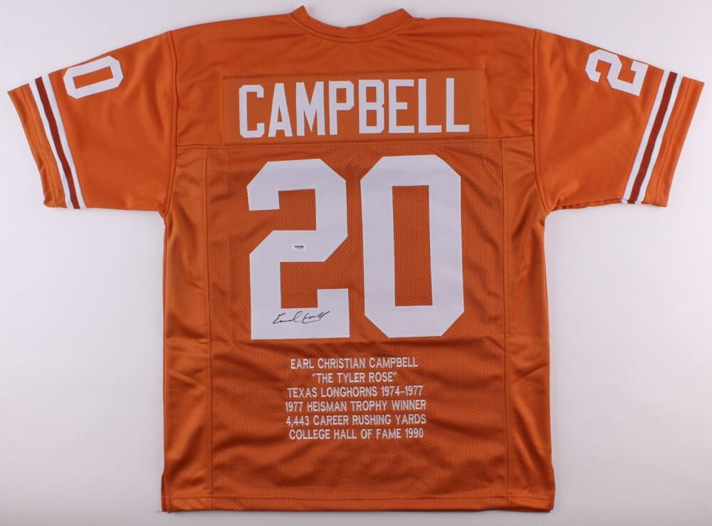 competitive price 1ee10 5590c Earl Campbell Signed Autographed University of Texas UT ...