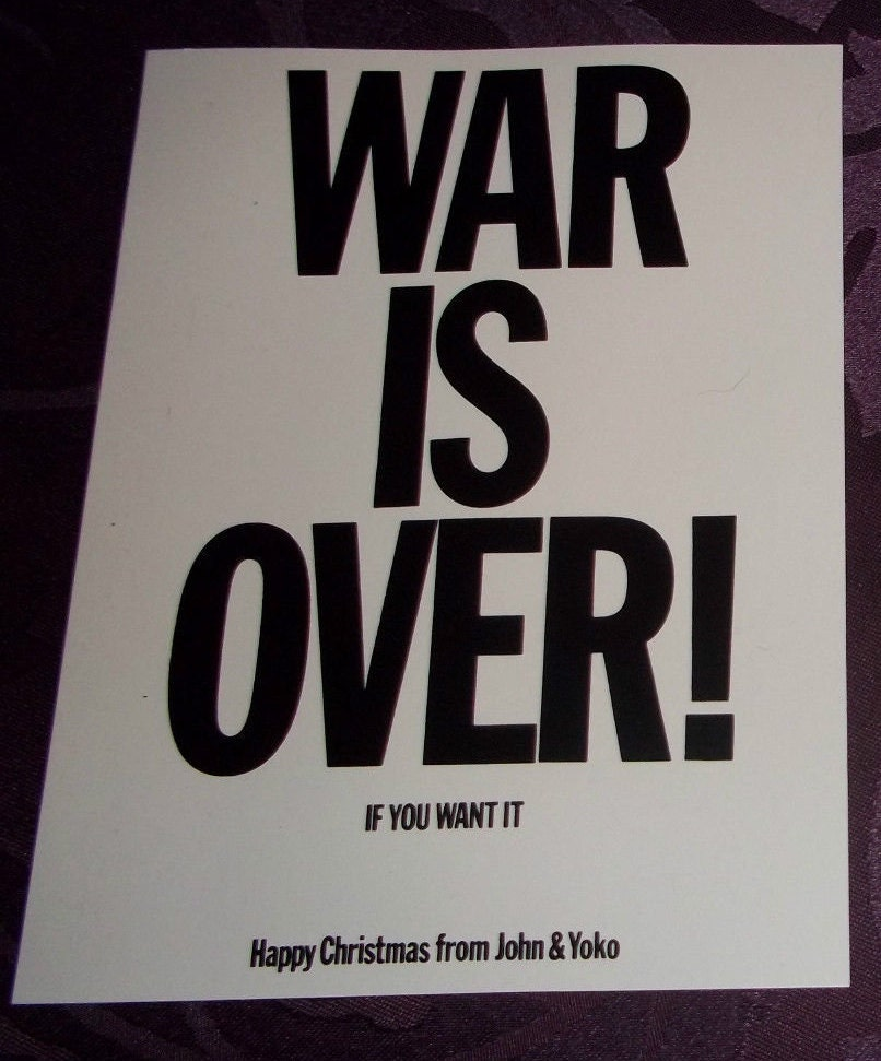 Beatles John Lennon Yoko Ono 100% AUTHENTIC & ORIGINAL War is Over ...