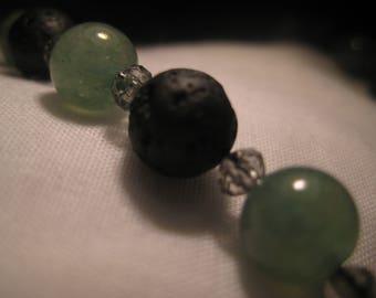 Charming Adventurine and Lava rock meditation beads