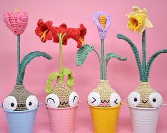 Spring Woolbitos. Crochet bulbs. Amigurumi Kawaii. Amigurumi bulbs.