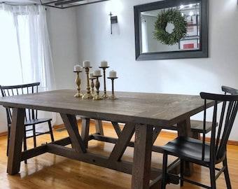 Solid wood Rustic Farm Table