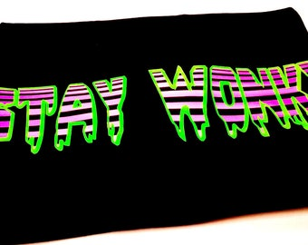 Stay Wonky Shirt Black Light Reactive