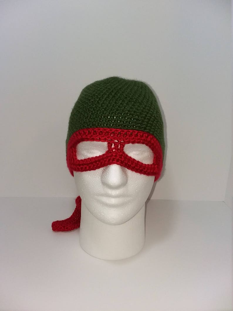 734f55c0c20 Ninja Turtle Inspired Mens Winter Raphael Hat Mens TMNT