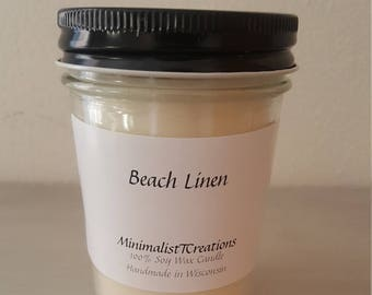 Beach Linen- Soy Wax Candle
