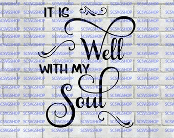 With My Soul Svg Etsy
