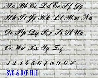 Script Font svg cut file Silhouette File Cut File SVG DXF | Etsy